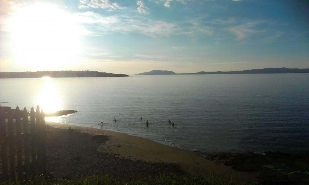 Swimming at Mermaids Cove on the Wild Atlantic Way